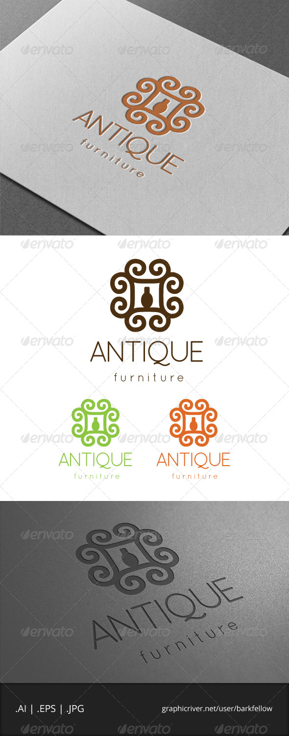 GraphicRiver Unique Furniture Logo 6904053