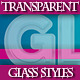 Set of Transparent Glass Styles for Design, part 2 - GraphicRiver Item for Sale