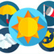 28+20 Flat Weather Icons Set - GraphicRiver Item for Sale