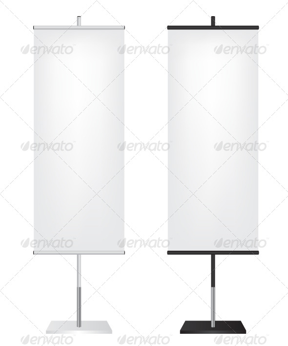 GraphicRiver Roll Up Flags Banner 6949824
