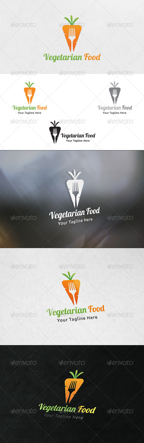 GraphicRiver Vegetarian Food Logo Template 6949847
