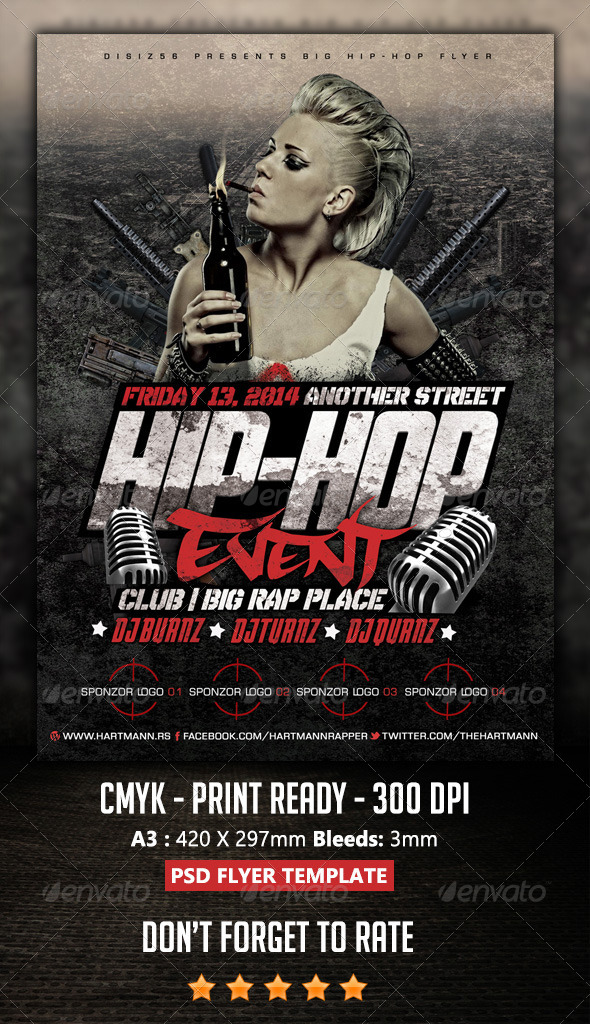 GraphicRiver Hip-Hop Flyer 6924917