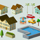 Building and Car Isometric Set - GraphicRiver Item for Sale