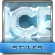 3D Ice Cool, Freeze & Snow Effects Styles - GraphicRiver Item for Sale