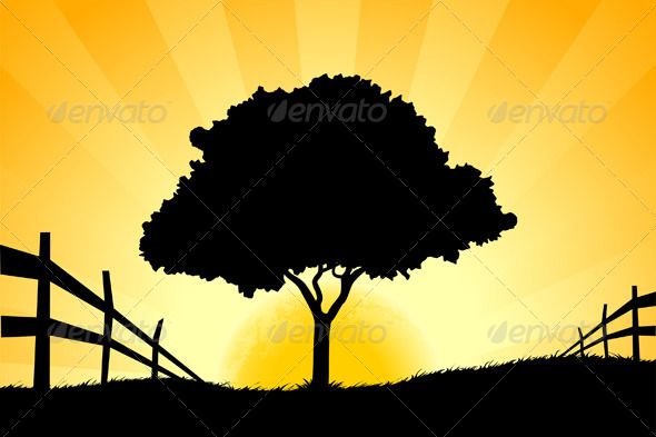 GraphicRiver Landscape with Tree 6951734