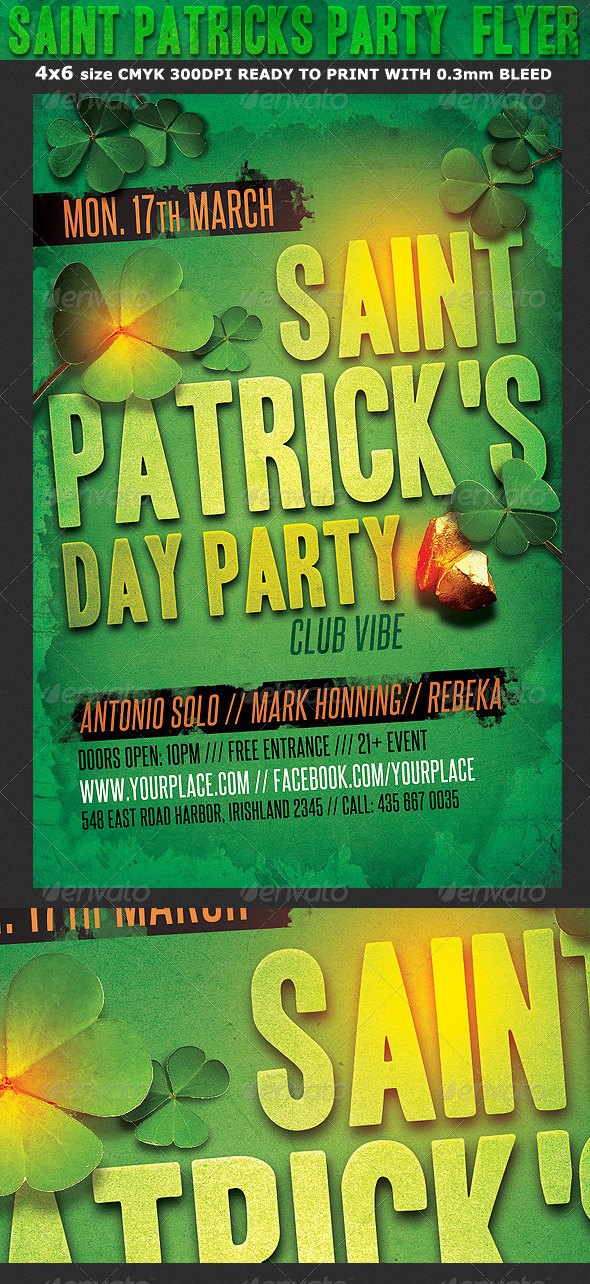 GraphicRiver Saint Patrick s Party Flyer Template 6951773