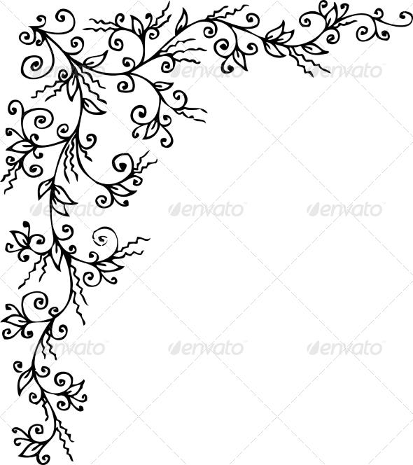 GraphicRiver Floral Vignette CCCXXXVI 6951786