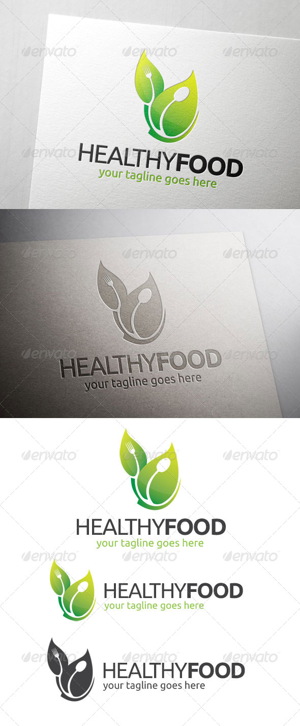 GraphicRiver Healthy Food Logo 6951822