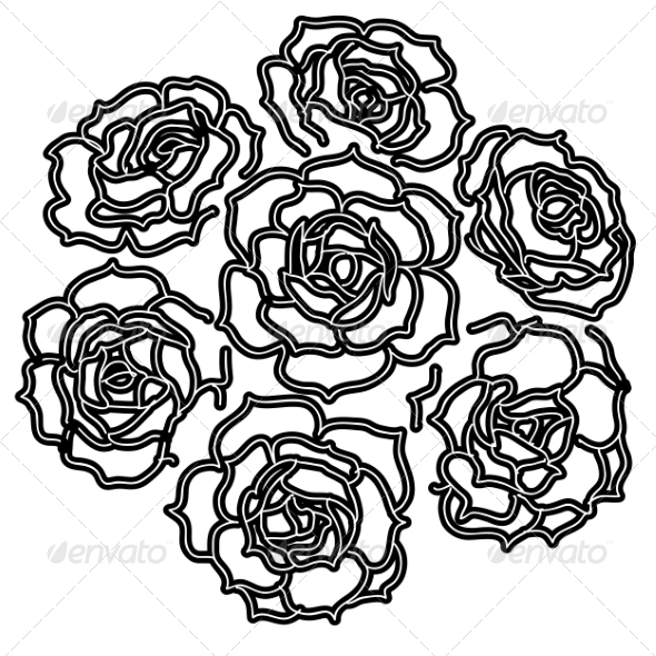 GraphicRiver Large Bouquet of Roses 6953251