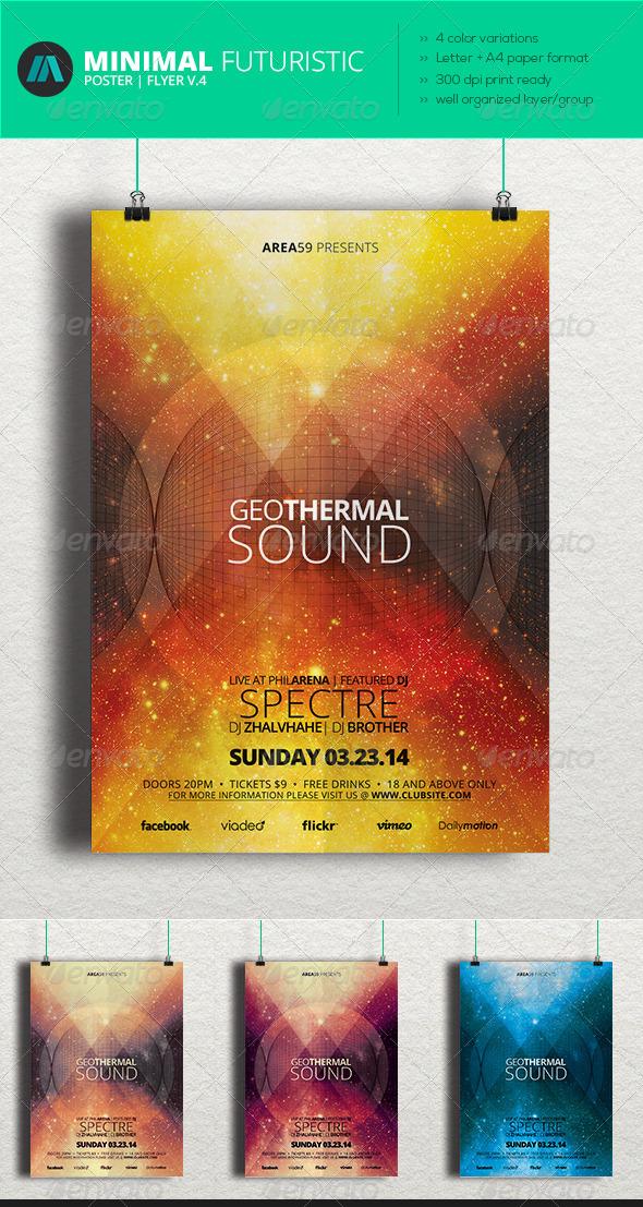 GraphicRiver Minimal Futuristic Poster Flyer V.4 6953754