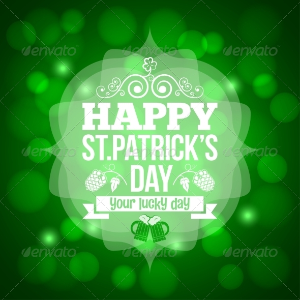 GraphicRiver Saint Patrick s Day Beer Mug Background 6955793