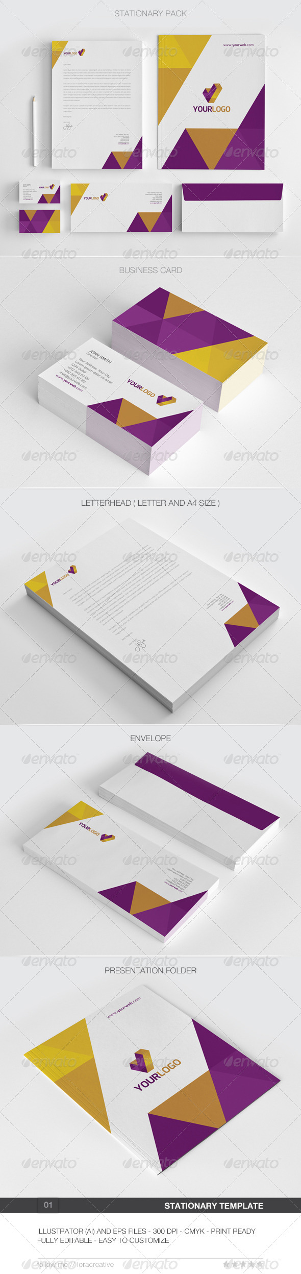 GraphicRiver Modern Stationary Pack 01 6193065