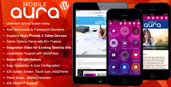 ThemeForest Aura Premium Mobile Theme 6956620