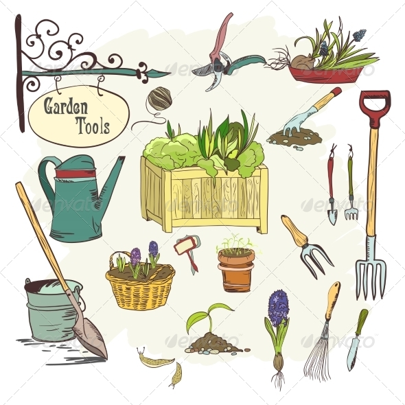 Gardening Tools And Their Uses With Pictures Stock Photos Graphics
