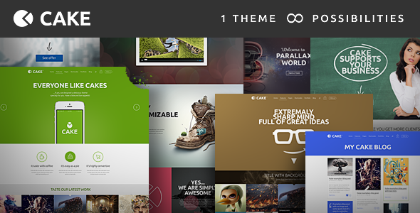 ThemeForest Cake Responsive Multi-Purpose WordPress Theme 6913568
