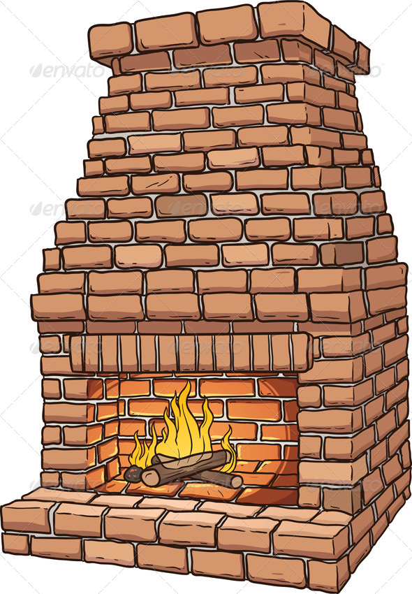 GraphicRiver Brick Fireplace 6957862