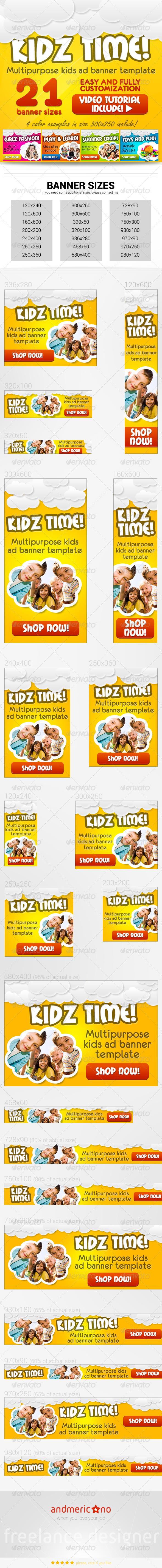 GraphicRiver Kids Banners Set 6949840