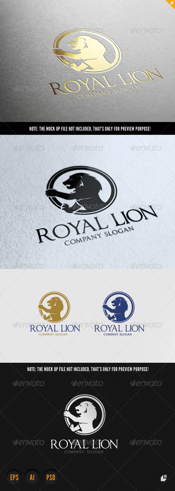 GraphicRiver Lion Royal Brand 6958275