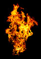 Fire photo on a black background - PhotoDune Item for Sale
