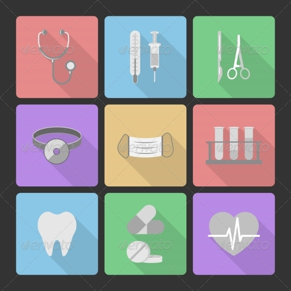 GraphicRiver Medical Icons Set 6958464
