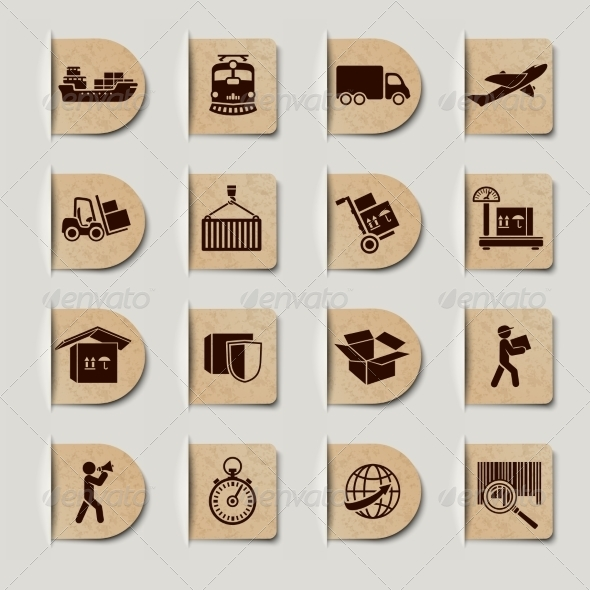 GraphicRiver Logistic Services Labels Set 6958624
