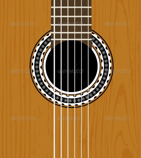 GraphicRiver Guitar Sound Hole Background 6958703