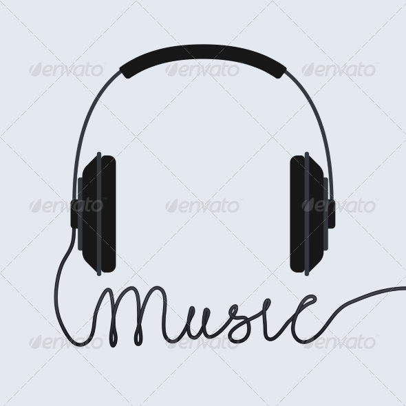 GraphicRiver Music Headphone Icon 6958740