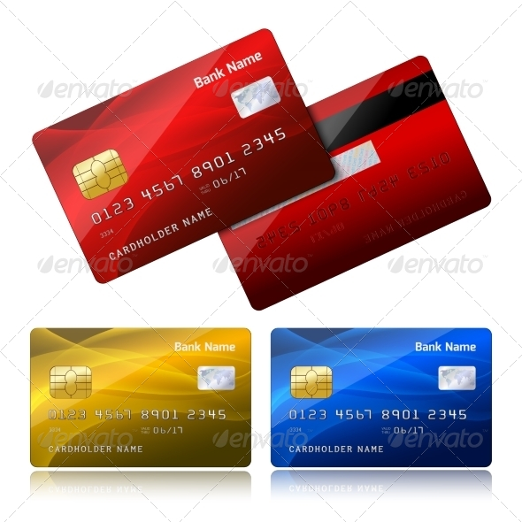 GraphicRiver Realistic Credit Card with Security Chip 6958886