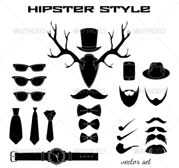 GraphicRiver Hipster Accessory Pictograms Collection 6958900