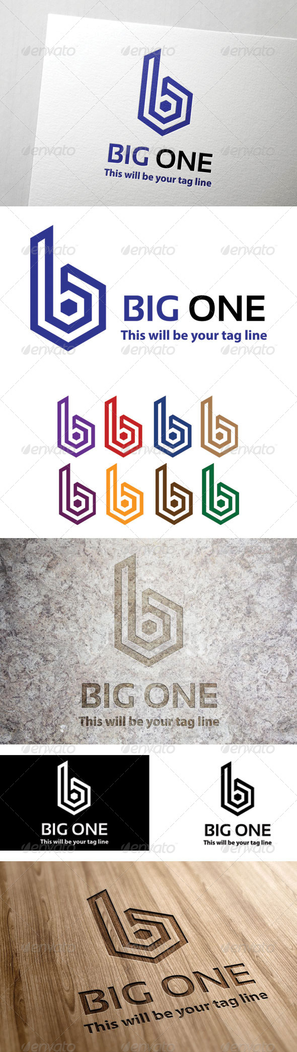 GraphicRiver B Logo Templates 6959248