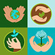 Ecology Signs and Symbols in Flat Style - GraphicRiver Item for Sale