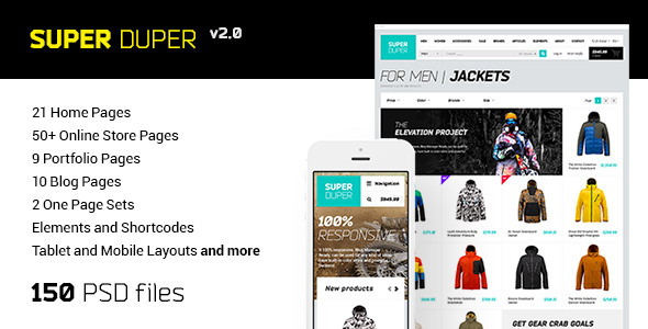 Super Duper | PSD Template - Retail PSD Templates