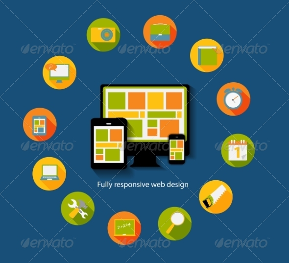 GraphicRiver Modern Flat Icon Set for Web and Mobile Application 6960031