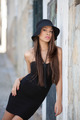 fashion model woman in black dress - PhotoDune Item for Sale