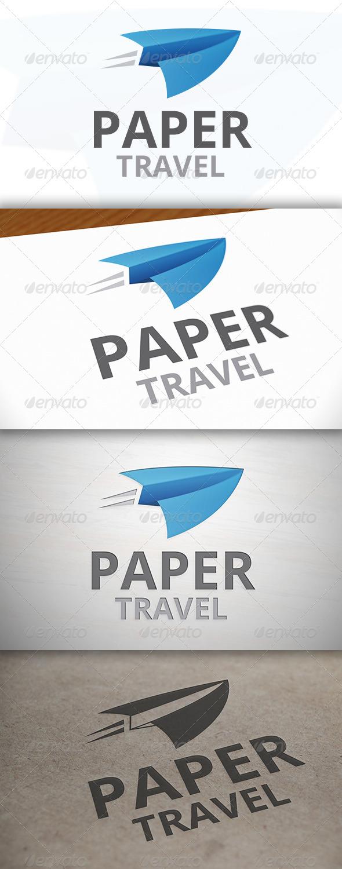 GraphicRiver Paper Travel Logo 6960151
