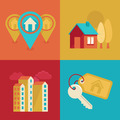 Real estate icons in flat style - PhotoDune Item for Sale