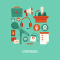Business conference concept in flat style - PhotoDune Item for Sale
