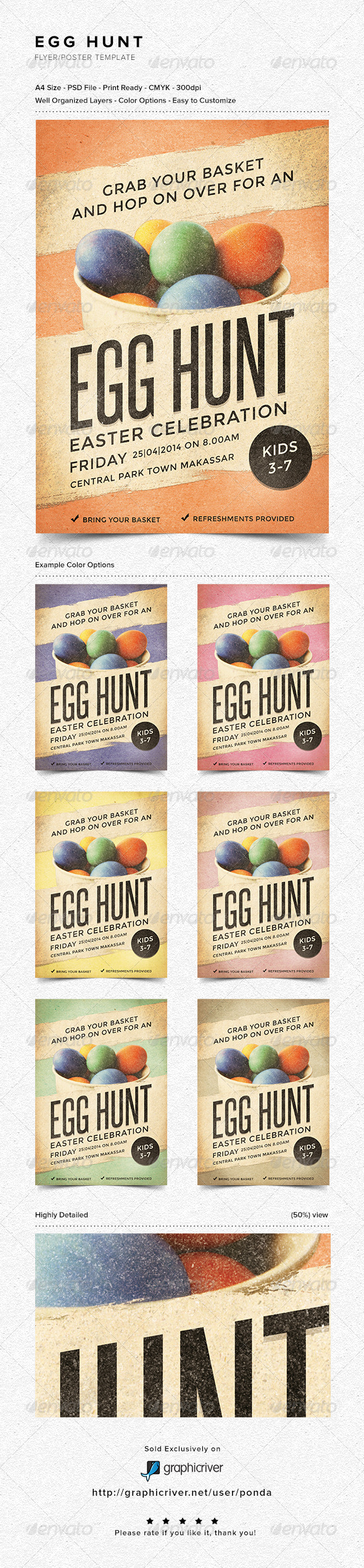 GraphicRiver Egg Hunt Flyer Poster Template 6961737