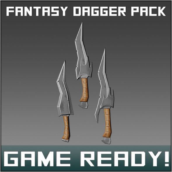 3DOcean Fantasy Weapon Dagger Pack 6961738