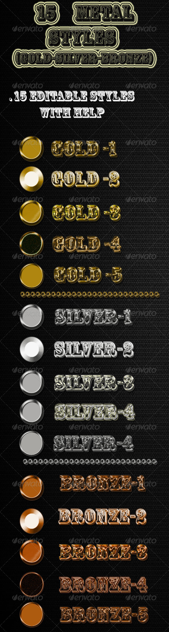 GraphicRiver 15 Metal Styles 6961834