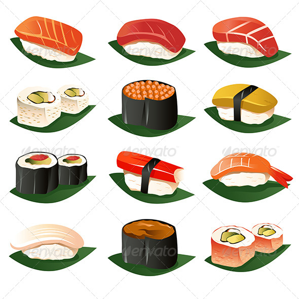 GraphicRiver Sushi Icons 6961956