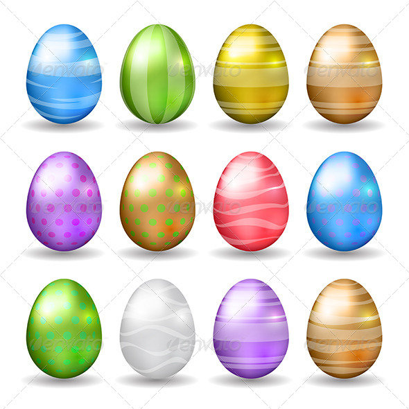 GraphicRiver Vector Easter Eggs 6962544