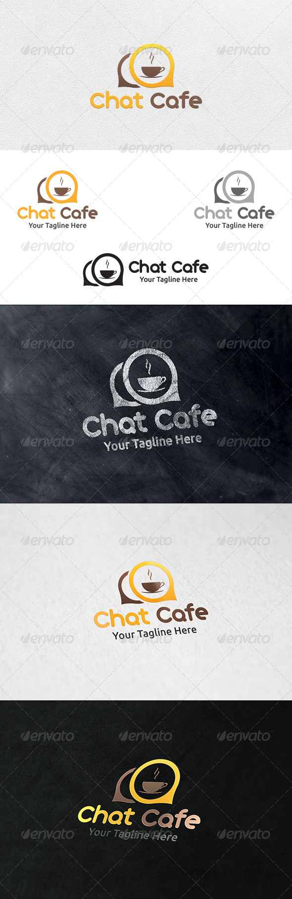 GraphicRiver Chat Cafe Logo Template 6963606