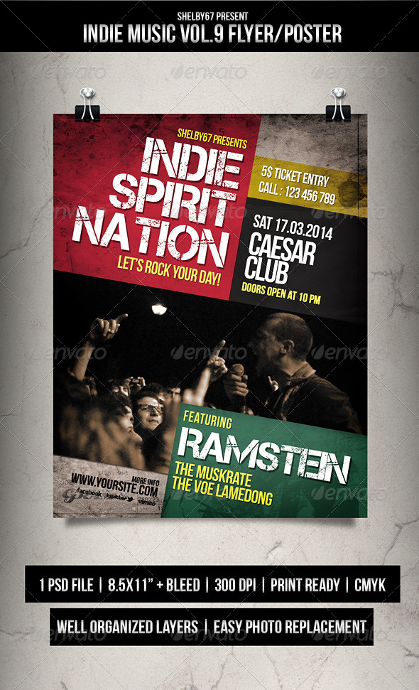 GraphicRiver Indie Music Flyer Poster Vol.9 6964086