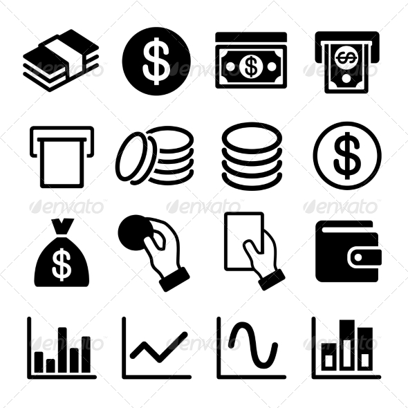 GraphicRiver Money and Business Icon Set 6964491