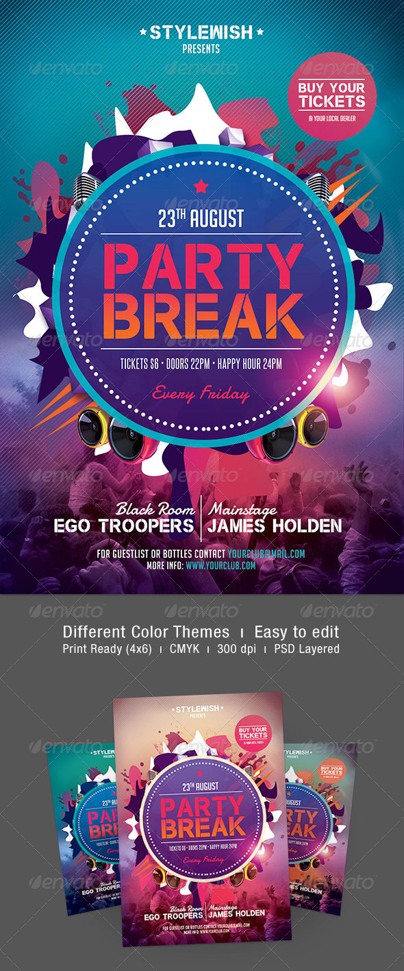 Party Break Flyer - Clubs & Parties Events