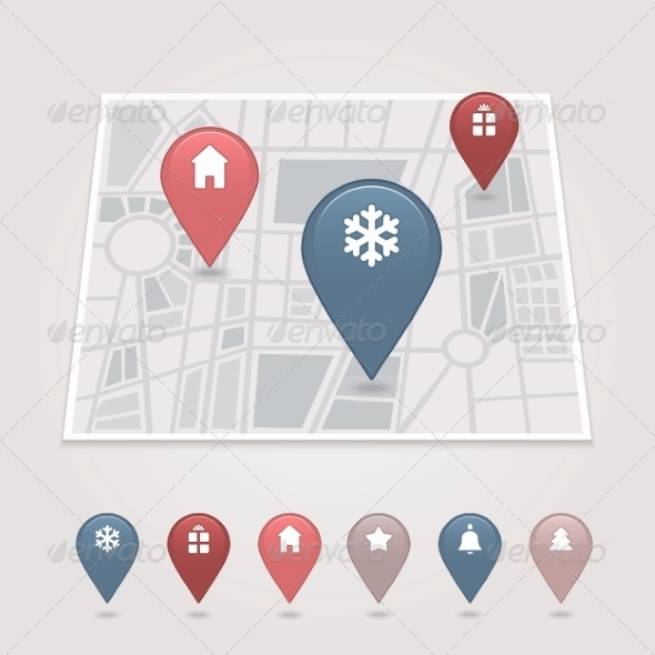 GraphicRiver Mapping Pins Icon 6964612