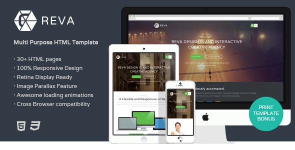 ThemeForest Reva Multipurpose HTML Template 6964912
