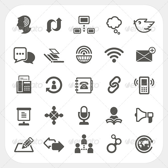 GraphicRiver Communication Icons Set 6964923