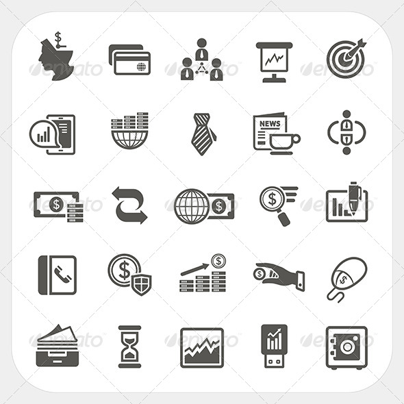 GraphicRiver Business and Finance Icons Set 6964926